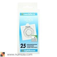 LEUCHTTURM Cartones Autoadhesivos, Blancos, Diametro 37,5 Mm - Matériel