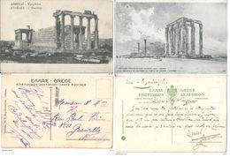 Lot De 2 CPA Athènes Grèce/Greece Armée D'orient WW1 Postcards - Grèce