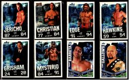 8 X Sammel-Karte / Trading Cards  -  WWE Wrestling  -  Slam Attax Evolution  -  Von Ca. 2008 / 2010   (6) - Sammelbilder, Sticker