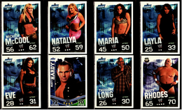 8 X Sammel-Karte / Trading Cards  -  WWE Wrestling  -  Slam Attax Evolution  -  Von Ca. 2008 / 2010   (7) - Sonstige