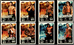 8 X Sammel-Karte / Trading Cards  -  WWE Wrestling  -  Slam Attax Evolution  -  Von Ca. 2008 / 2010    (1) - Sammelbilder, Sticker