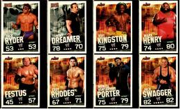 8 X Sammel-Karte / Trading Cards  -  WWE Wrestling  -  Slam Attax Evolution  -  Von Ca. 2008 / 2010    (2) - Sammelbilder, Sticker