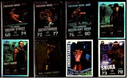 8 X Sammel-Karte / Trading Cards  -  WWE Wrestling  -  Slam Attax Evolution  -  Von Ca. 2008 / 2010 - Sonstige