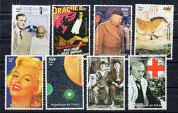 Tim289 Millenium 1999 Gandhi Dracula Eisenhower Marilyn Monroe Lacsaux Planet Planete Pluton Laurel Hardy Fleming - Tchad (1960-...)