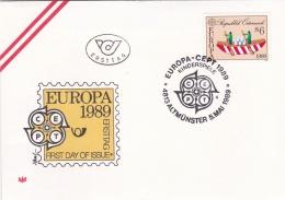 Austria 1989 FDC Europa CEPT  (T2-14) - 1989