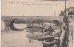 GRAY LE PONT DE PIERRE LES BATEAUX LAVOIRS 1915 - Gray