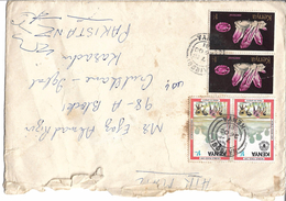 Kenya Airmail 1977 Amethyst, Minerals 1981 Cultivation Of Rice  World Food Day Postal History Cover - Minerales