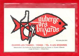 89-CPSM QUARRE LES TOMBES - AUBERGE DES BRIZARDS - CARTE PUBLICITAIRE - Quarre Les Tombes