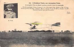 CPA AVIATION L'AVIATEUR TRAIN SUR MONOPLAN TRAIN - ....-1914: Précurseurs