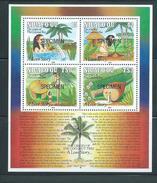 Tonga Niuafo´ou 1991 Christmas Coconut Tree Miniature Sheet MNH Specimen Overprint - Tonga (1970-...)
