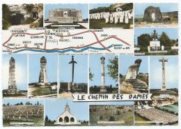 CPSM MULTIVUES COLORISEE LE CHEMIN DES DAMES, CHAVIGNON, BERRY AU BAC, VENDRESSE, HURTEBISE, CRAONNELLE, CERNY, 02 - Unclassified