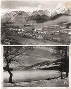 2 CP - LAFFREY (Le Grand Lac Gelé) PIERRE CHATEL (Le Grand Serre) (93049) - Altri Comuni