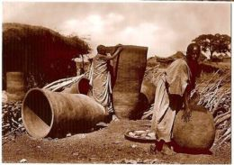 AFRICA - ABYSSINIA - CONTAINERS FOR GRAIN - EDIT A.  BARATTI / A. CAMPASSI 1930s - Postales