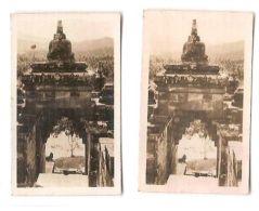 JAVA - TEMPLE BOROBODEUR  - CAVANDERS CIGARETTES PEEPS INTO MANY LANDS 1920s - Foto