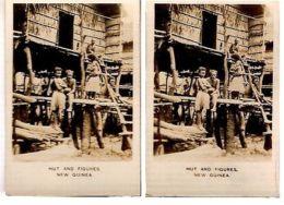 NEW GUINEA - HUT AND FIGURES - CAVANDERS CIGARETTES PEEPS INTO MANY LANDS 1920s - Foto