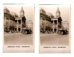 MELBOURNE - SWANSTON STREET - CAVANDERS CIGARETTES PEEPS INTO MANY LANDS 1920s - Photos