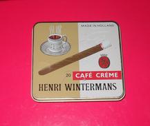 Boîte Métallique. Henri Wintermans - 20 Café Crème. - Sigarenkokers