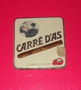 Boîte Métallique. Carré D'as. Cigares De Canotier, SEITA, Années 1960-1970. - Sigarenkokers