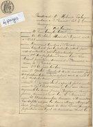 VP6756  - SAINTE LIVRADE - Acte De 1887 -  Généalogie - Notoriété De Jean MIGUEL - Manuscripts