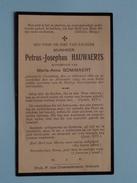 DP Petrus-Josephus HAUWAERTS ( Bommaert ) Crainhem 11 Feb 1850 - 22 Nov 1921 ( Zie Foto´s ) !