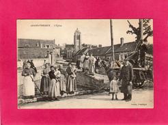 60 OISE, GRAND-FRESNOY, L'Eglise, Animée, Charrette, (Decelle) - France
