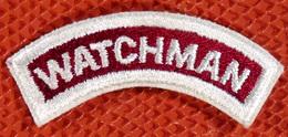 US ARMY Authentique Patch écusson Banane Watchman / Gardien Surveillant 40/50 - Ecussons Tissu