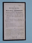DP Maria-Anna BOMMAERT ( Hauwaerts ) Stockel 6 Nov 1851 - Wezembeek 20 Jan 1926 ( Zie Foto´s ) !