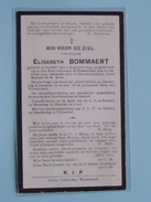 DP Elisabeth BOMMAERT () Stockel 2 Aug 1844 - Wezembeek 19 Okt 1925 ( Zie Foto´s ) !