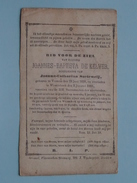 DP Joannes-Baptista DE KELVER ( SOETEWEIJ ) Vossem 29 Juni 1820 - Wesembeek 2 Jan 1880 ( Zie Foto´s ) !