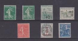 France / Lot De Timbres / NEUFS Avec Défaut De Gomme Sur Le 10 Ctes Vert - Unused Stamps