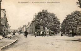 CPA - COMMENTRY (03) - Aspect Du Carrefour De L'Avenue De La Gare Et De La Route De Chamblet En 1923 - Commentry