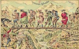 Sport: Illustration Signée (E. Saris? E. Satie?) - Téméraires Alpinistes - Image N° 7 De 16 X 24 Cm - Oude Documenten