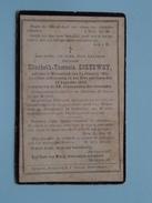 DP Elisabeth-Theresia SOETEWEY ( ) Wesembeek 11 Januarij 1803 - 19 Aug 1882 ( Zie Foto´s ) !