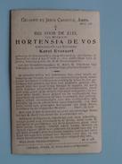 DP Hortensia De VOS ( Karel EVERAERT ) Seveneecken ( 57 Jaren ) Doorslaer 4 April 1928 ( Zie Foto´s ) !