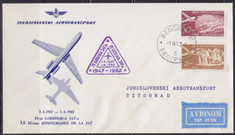 Yugoslavia 1962 Yugoslav Airlines (JAT) 15 Years Since Founding, Commemorative Airmail Cover - 1945-1992 Sozialistische Föderative Republik Jugoslawien