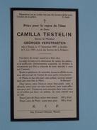 DP Camilla TESTELIN ( Georges Verstraeten ) Renaix 12 Sept 1887 - 5 Juin 1925 ( Zie Foto´s ) ! - Religion & Esotericism