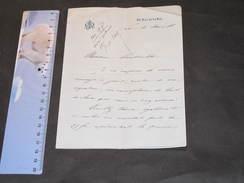 Bruxelles 16/3/1898 Lettre Sur Papier Monogrammé A.M. 66 Rue De La Loi.  Paiement Location Dechasse à M.VANDEVELDE - Manuscripts