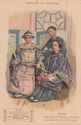 """CPA - Négociant Du Pénang Et Sa Femme En Habits De Fête ( XIXe Siècle ) - Carte Pub """" Musculosine Byla """" - Chine"""
