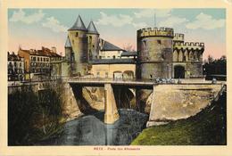 Photo Colorisée Sur Carton: Metz Porte Des Allemands - Places
