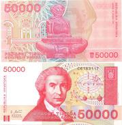 Croatia 50000 Dinars 1993 UNC - Croatie