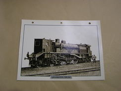 LOCOMOTIVE THUILE Type 223 Vapeur Steam  France SNCF  Locomotive Fiche Descriptive Ferroviaire Chemin De Fer Train - Picture Cards