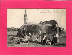 29 FINISTERE, Pardon De STE-ANNE-LA-PALUD, Les Cuisines En Plein Air, Animée, (ND Phot) - Autres Communes