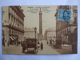 19112016 -  75 - PARIS -  LA RUE DE CASTIGLIONE ET LA COLONNE VENÔME  - - Arrondissement: 01