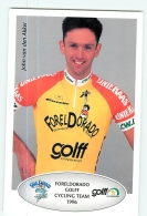John VAN DEN AKKER . 2 Scans. Cyclisme. Foreldorado Golff 1996 - Ciclismo
