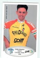 John VAN DEN AKKER . 2 Scans. Cyclisme. Foreldorado Golff 1996 - Wielrennen