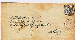 GOZZANO - 15 Cent (12) Difettoso In Angolo - Involucro X Milano 4.7.1863 - Italia
