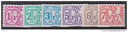 TX 66/71B   XX  MNH  WIT PAPIER - Stamps