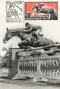 D27909 CARTE MAXIMUM CARD 1972 HUNGARY - EQUISTRIAN HORSE JUMPING CP ORIGINAL