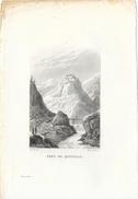 Gravure Sur Cuivre De Skelton Fils: Fort De Queyraz Ou Queyras (Hautes-Alpes) - XIXe Siècle - Estampes & Gravures
