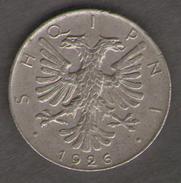 ALBANIA 1/2 LEK 1926 - Albania